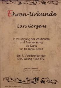 Lars-10-Jahres-urkunde