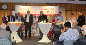 v. li., Dr. Agnes Klein, Josef Ludwig, Hans Oster, Peter Kron, Helmut Frangenberg, Wilfried Hühn, Lars Görgens, Susan Bersem, Holger Dahlke, Foto: Dagmar Ziege, SSBK